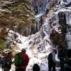 宝満山系登山 やっぱり凍ってた 難所ガ滝