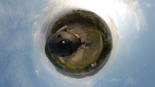 【360度カメラ裏山撮影】切れ目なしの360度動画 再アップ