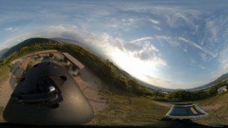 【360度カメラ】裏山登山・ロンスケ ダウンヒル撮影したヨ