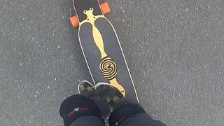 ロングスケートボードのトリック練習になる動画2
