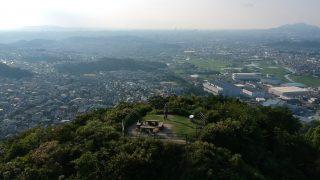 DJI Spark 裏山頂上から福岡の街を撮影(曇り空)