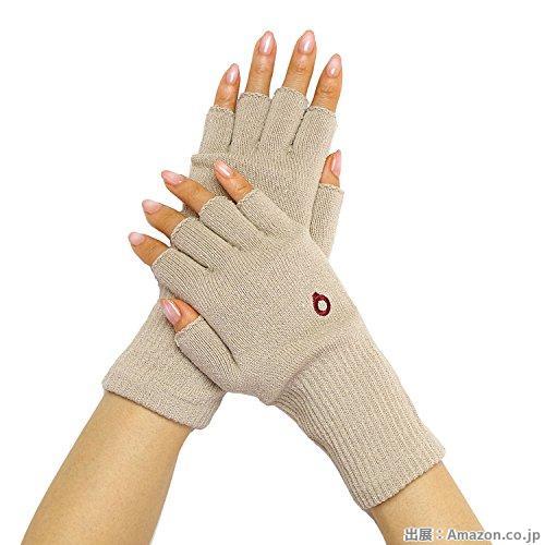 [841(ヤヨイ)] シルク ハンドウォーマー スマホ 手袋 指なし 絹 日本製