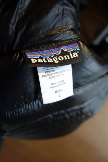 Patagonia Ultralight Down Hoody 背中タグ