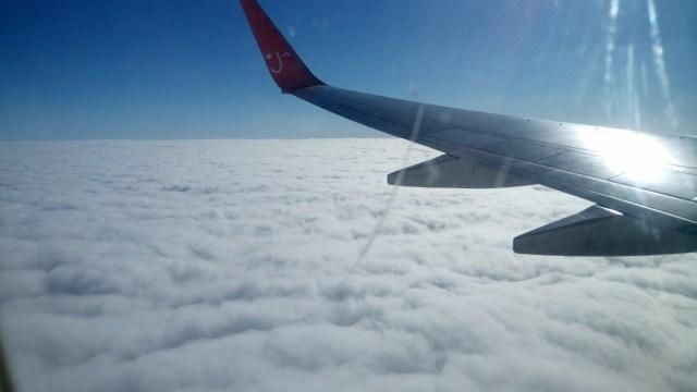 空はどこまでも青く♪