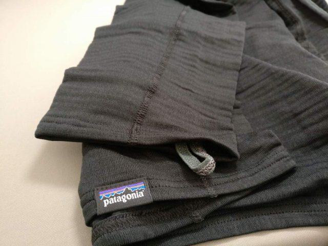 patagonia キャプリーン TW Zip Neck 袖の親指用ループ