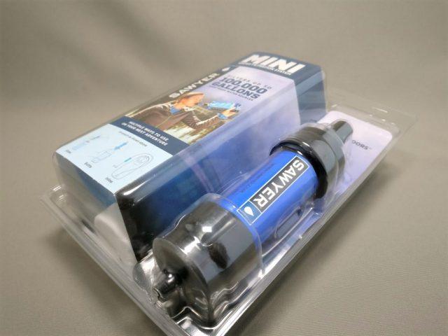 SAWYER PRODUCTS ミニ 浄水器 SP128 パッケージ 表 斜め右