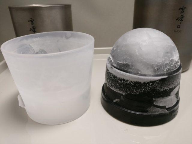 俺の丸氷 製氷完了 フタを取る