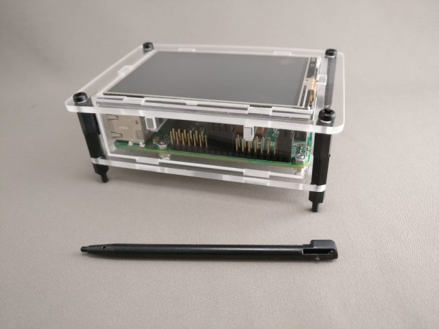 "3.5"" Raspberry Pi TouchScreen LCD Display +Clear Case for Pi 2 3 1"