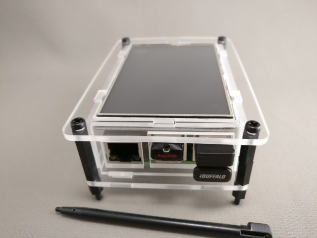 "3.5"" Raspberry Pi TouchScreen LCD Display +Clear Case for Pi 2 3 3"