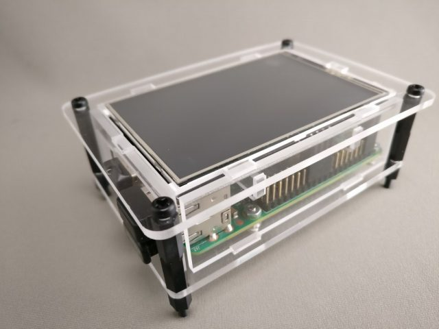 "3.5"" Raspberry Pi TouchScreen LCD Display +Clear Case for Pi 2 3 2"