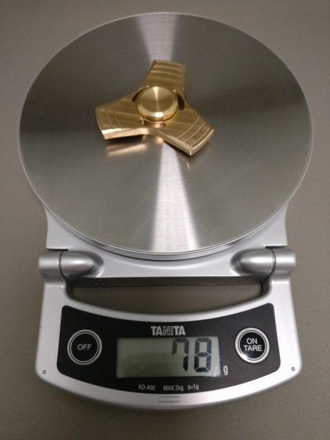真鍮(Brass)3連 ハンドスピナー 重量