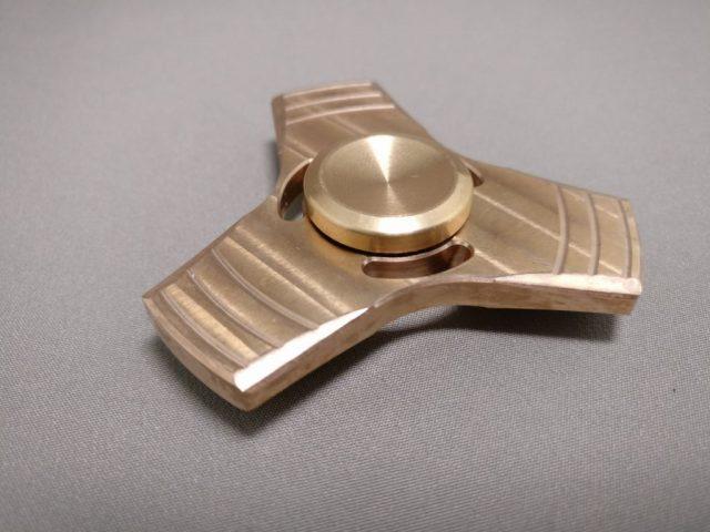 真鍮(Brass)3連 ハンドスピナー 真鍮