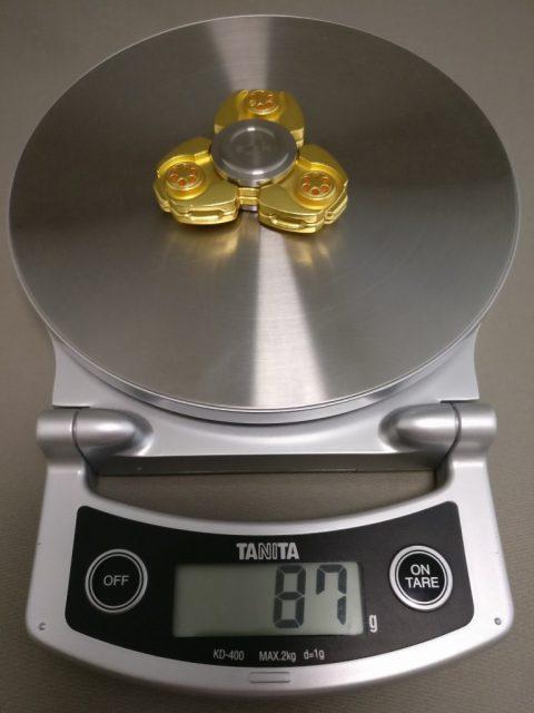 ジャイロ(Gyro)3連GOLD ハンドスピナー 重量