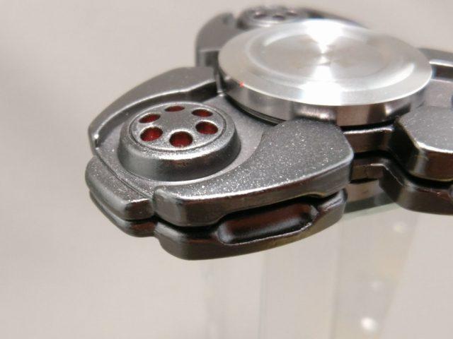 ジャイロ(Gyro)3連Fidget Spinner BLACK  上 斜め ズーム