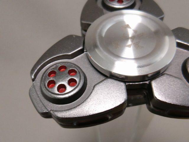 ジャイロ(Gyro)3連Fidget Spinner BLACK  上 ズーム