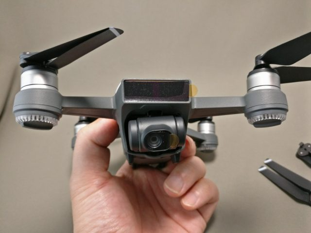 DJI Spark カメラ・センサーのテープ