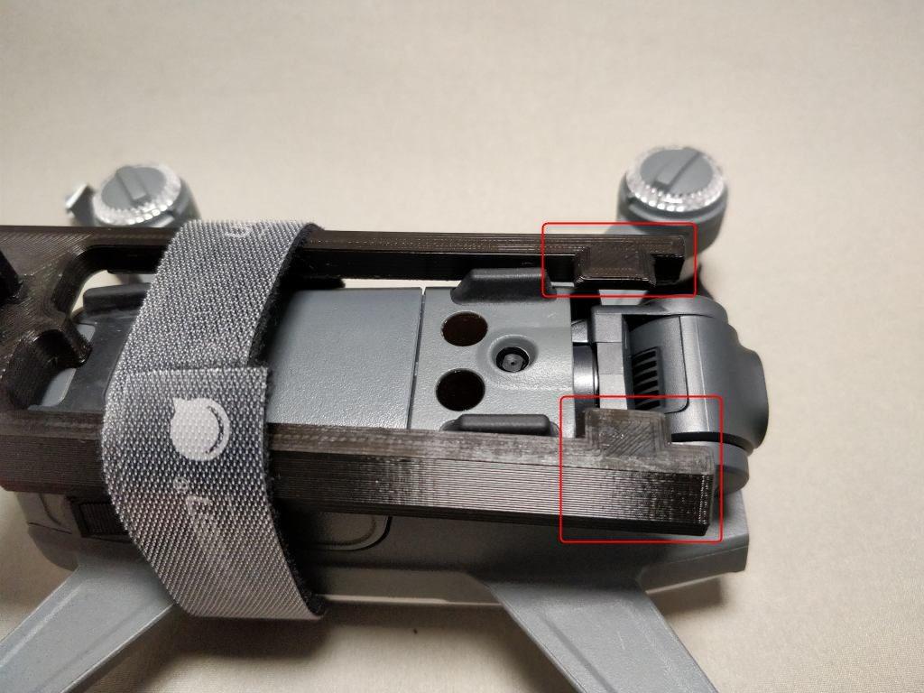 DJI Spark+360度カメラ  仮止3