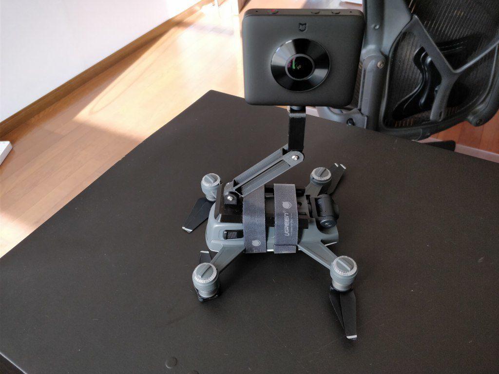 DJI Spark+360度カメラ  室内テスト2