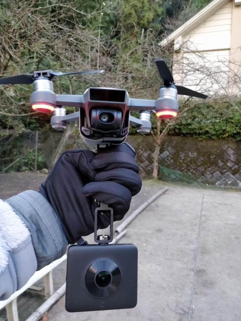 DJI Spark+360度カメラ  公園3