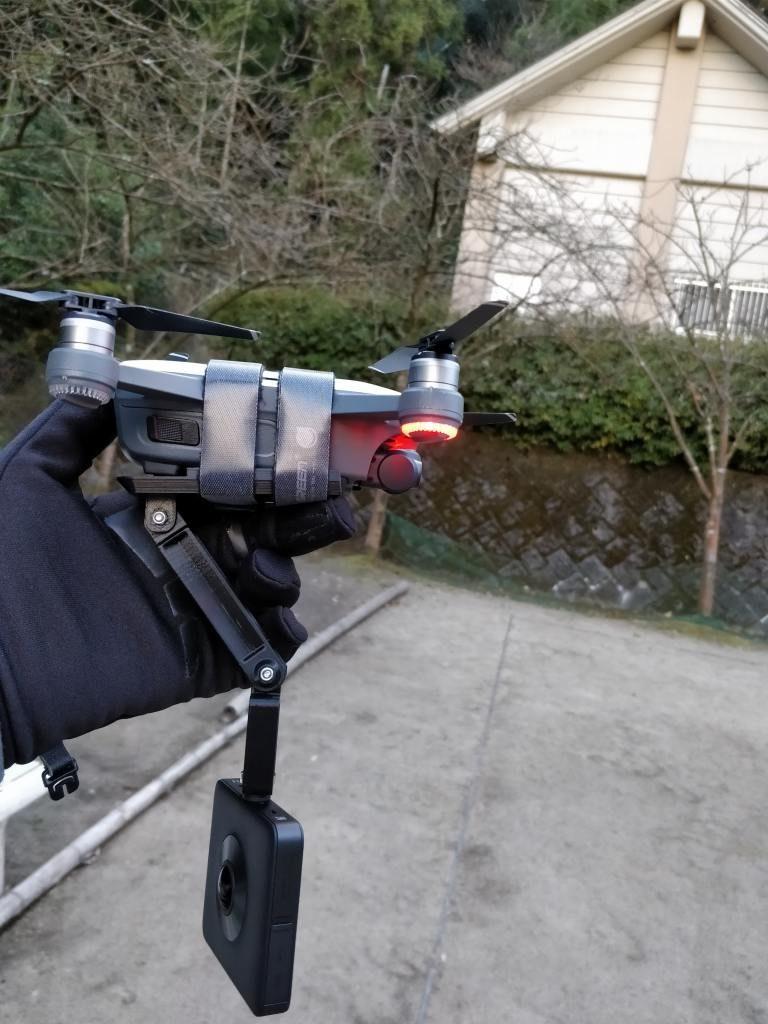 DJI Spark+360度カメラ  公園