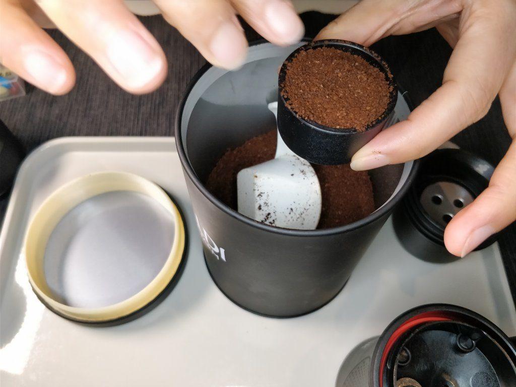 ポータブル エスプレッソメーカー  本体 コーヒー粉