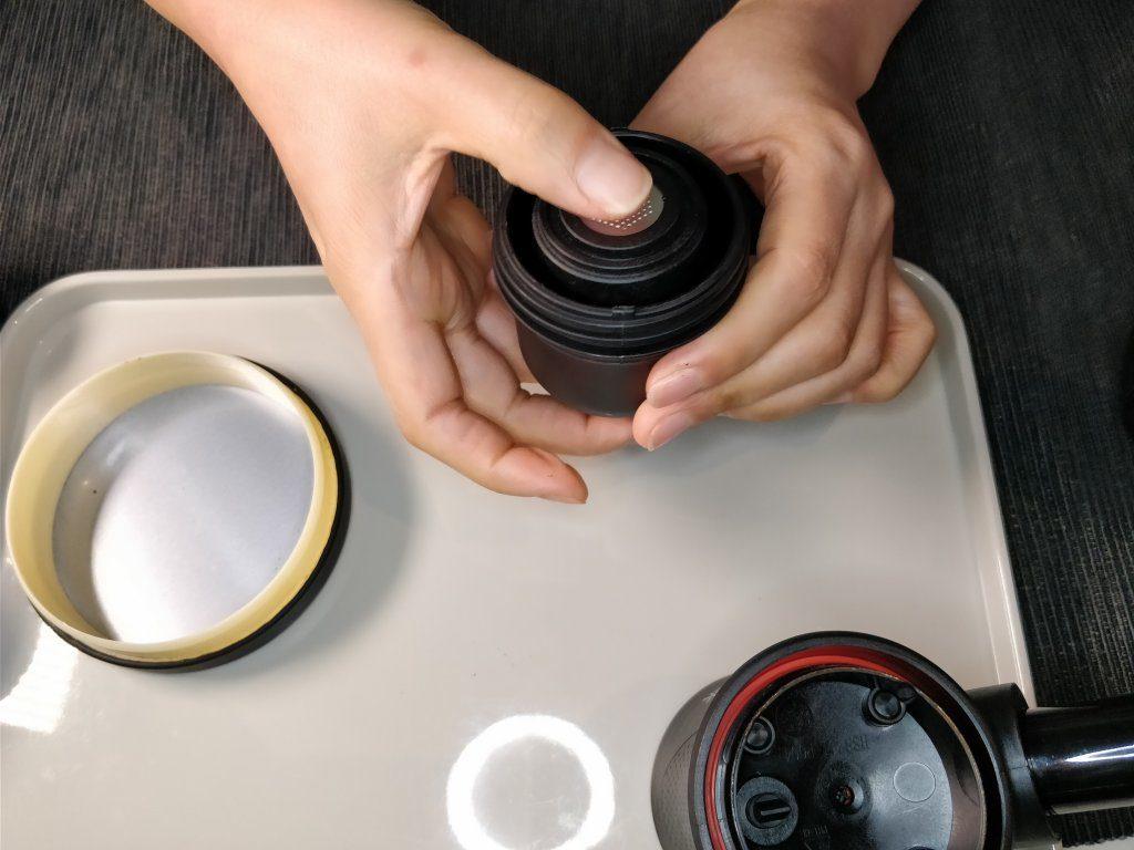 ポータブル エスプレッソメーカー  本体 コーヒー粉 セット
