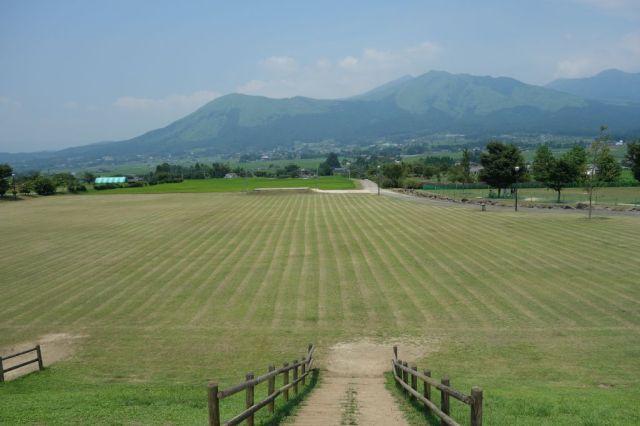 阿蘇山を一望できる景色が良い場所