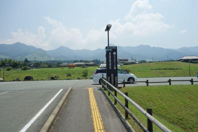 阿蘇山の反対側の景色もなかなか