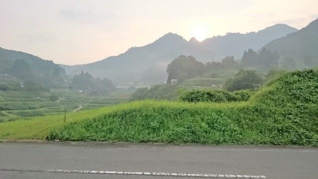 天岩戸の朝日がキレイ