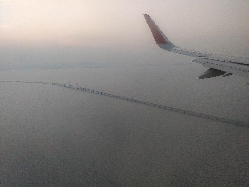 香港国際空港 着陸 マカオ