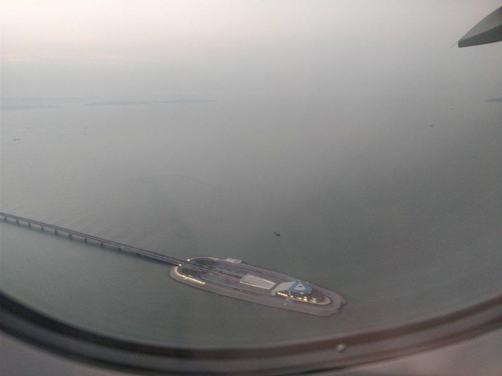 香港国際空港 着陸 浮島