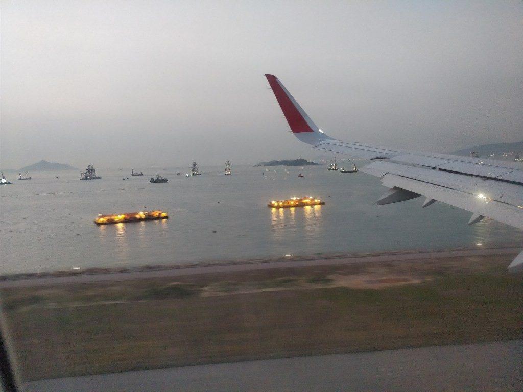 香港国際空港 着陸